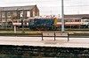 08682 LIONHEART, one of the Works pilots, has escaped briefly and heads north from Doncaster Station, 19/04/00. Back in the late 1980's, this loco was Boston Docks pilot.