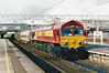 66003 heads south through Stafford on 6G12 Longport - Bescot Enterprise, 29/10/98.
