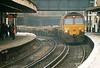 66002 rattles through Platform 12 at Clapham Junction on a northbound spoil train, 30/12/03.