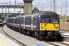 Class 360 103 c/w 360108 passes Wellingborough on 5Y27 1357 Corby - St Pancras empty stock, 07/07/21.