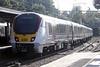 Class 720 557 departs Bishops Stortford on 2H23 1014 Cambridge North - Liverpool Street, 13/10/21.