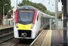 Class 745 005 draws into Stowmarket on 1P23 0904 Norwich - Liverpool Street, 28/09/21, my train to Ipswich.