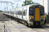 Class 387 103 and 387 113 make up 1T30 Kings Cross - Kings Lynn passing Foxton, 04/07/18.