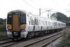 Class 387 106 is on the rear of 1T49 1644 Kings Lynn - Kings Cross at Littleport, 16/10/21.