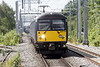 Class 360 108 c/w 360 103 approaches the terminus at Corby on 1Y15 0945 from St Pancras, 07/07/21.