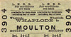 M&GN TICKET - WHAPLODE - Third Class Single to Moulton, fare 3 1./2d - dated July 5th, 1952. Despite the fact that the M&GN had ceased to exist 16 years previously, it seems the fare had not altered in that time.