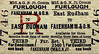 M&GN TICKET - EAST RUDHAM - Third Class Furlough Return to Fakenham M&GN.