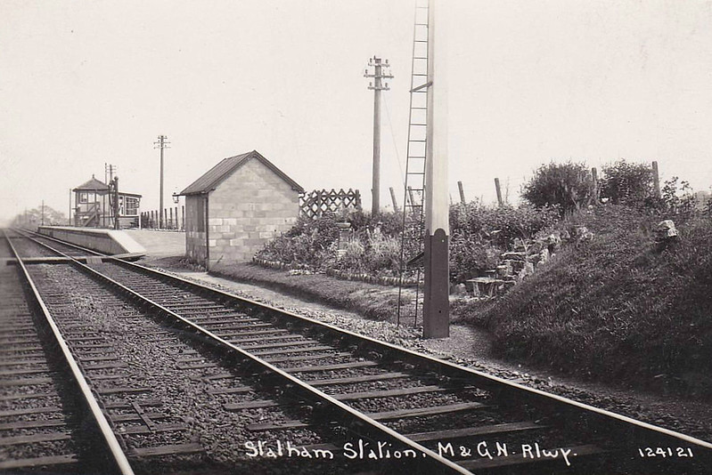 STALHAM - Opened by the Yarmouth & North Norfolk Railway in July 1880, Stalham was the second stop from North Walsham on the line to Yarmouth Beach. After closure, the station building was eventually demolished and re-erected at Holt on the NNR - seen here in 1920.