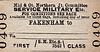 M&GN TICKET - FAKENHAM - First Class Military Service Single to Blank Destination.