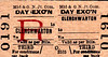 M&GN TICKET - CLENCHWARTON -  Third Class Day Excursion - obviously, at a small station like Clenchwarton, the destination of excursions could not be predicted so all of the tickets would have to be handwritten.