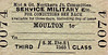 M&GN TICKET - MOULTON - Third Class Military Service Single.