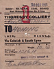 BRITISH RAILWAYS WAGON LABEL - THORESBY COLLIERY to HONING - Wagon No.131611, loaded with 10 tons 3 cwts of Small Nuts Group 6, was despatched from NCB Thoresby Colliery, Edwinstowe, Notts, to Honing, via Colwick and South Lynn, on December 30th,1953, consigned to Cubitt & Walker, millers and grain merchants.