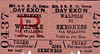 M&GN TICKET - WALPOLE - Third Class Day Excursion to Skegness, via Spalding - note punched on both sides but not dated.