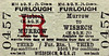M&GN TICKET - WISBECH (M&GN) - Third Class Furlough Return to Murrow - that would be Murrow East and Wisbech North.