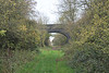 LITTLE BYTHAM - The view through Bridge No.244 looking towards Bourne, showing the course of the M&GN running straight as an arrow, November 2nd, 2017.