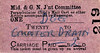 M&GN TICKET - TWENTY - Accompanying Passenger Ticket for a Dog to Counter Drain, fare 2d - dated July 22nd, 1958.