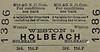 M&GN TICKET - WESTON - Third Class Single to Holbeach, fare 11d.