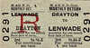 M&GN TICKET - DRAYTON - Third Class Monthly Return to Lenwade - fare 1s 8d - notice that there no mention of 'for Costessey' on this ticket.