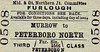 M&GN TICKET - MURROW - Third Class Furlough Single to Peterborough North.