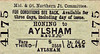 M&GN TICKET - HONING - Third Class Single to Aylsham (M&GN), fare 1s 6d - dated August 29th, 1958.