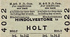 M&GN TICKET - HINDOLVESTONE - Third Class Single to Holt - fare 1s 7d. Although only 2 stops, this journey probably would have required a change at Melton Constable.