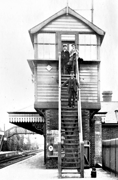 SHERINGHAM - The original signalbox at Sheringham, replaced on arrival of the Great Eastern Railway in 1906 by boxes at each end of the station.