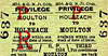 M&GN TICKET - HOLBEACH - Third Class Privilege Return to Moulton.
