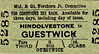 M&GN TICKET - HINDOLVESTONE - Third Class Single to Guestwick - fare 6d, changed by hand from 4d - dated February 14th, 1959