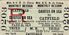 M&GN TICKET - CAISTER ON SEA - Third Class Monthly Return to Catfield, fare 2s 9d.