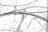 SAXBY - A 1904 map of Saxby Station, located just to the left of the road bridge. The MR Leicester - Peterborough line is joined here by the M&GN just to the east of the road bridge. The 'Old Railway' is the original MR alignment, taken out of use and the new station built with arrival of the M&GN in 1892. The curves on this were considered far too tight for expresses travelling a high speeds. The stub was subsequently used for wagons storage