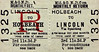 M&GN TICKET - HOLBEACH - Third Class Monthly Return to Lincoln, via Spalding - fare 11s 3d.