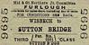 M&GN TICKET - WISBECH - Third Class Furlough Single to Sutton Bridge.