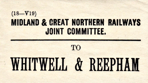 M&GN LUGGAGE/PARCEL LABEL - WHITWELL & REEPHAM