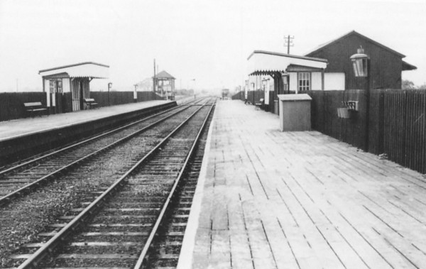 SOUTH WITHAM - In contrast to the previous picture, this shot is taken in October 1958, just before the end of passenger services. The ironstone traffic continued until 1964 and this effectively became a terminus of a branch from Saxby. Seen here looking west.