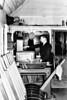 LONG SUTTON - Signalman Len Bingham releases the tablet for the last regular M&GN passenger train, the 4.20pm from Nottingham, February 28th, 1959.