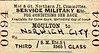 M&GN TICKET - MOULTON - Third Class Military Service Single to Norwich City.