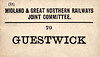 M&GN LUGGAGE/PARCEL LABEL - GUESTWICK - Second stop south of Melton Constable on the Norwich City line.