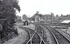 BOURNE - East Junction, the line to Sleaford going off to the right, the line to Spalding on which we are standing. Taken in August 1958, only 6 months before closure, nothing of this now remains. In fact, my sister lives just about where the photographer is standing!