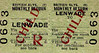 BR TICKET - LENWADE - Third Class Monthly Return to blank destination - issued prior to 1956.