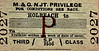 M&GN TICKET - HOLBEACH - Third Class Privilege Single to blank destination - issued to families of railway employees.