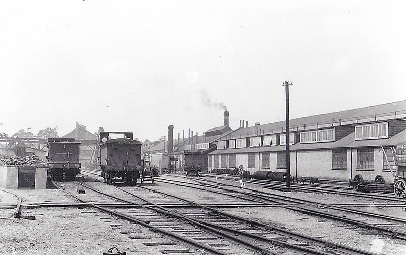 MELTON CONSTABLE - The Works Yard, seen here 1929. Note the weatherboards on the engine tenders.