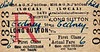 M&GN TICKET - LONG SUTTON - First Class Child Single to Gedney, fare 6d - dated July 28th, 1958.