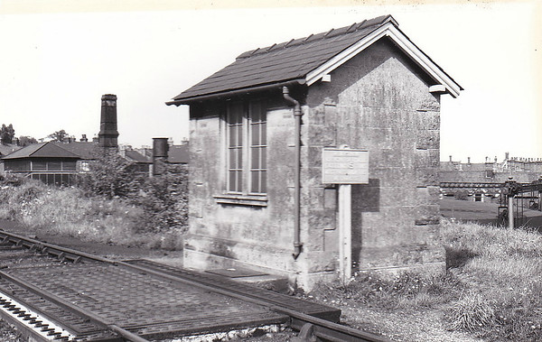 MELTON CONSTABLE - The weightbridge and attendant hut, a typical Marriott construction. The buildings in the background are the gasworks.