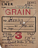 LNER WAGON LABEL - On June 11th in a year after 1939, Wagon No.407941 was sent from Blackwall Goods Depot to Honing loaded with 57 sacks of grain for Cubitt & Walker, millers, of Honing.