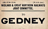 M&GN LUGGAGE/PARCEL LABEL - GEDNEY - print date November 1906.