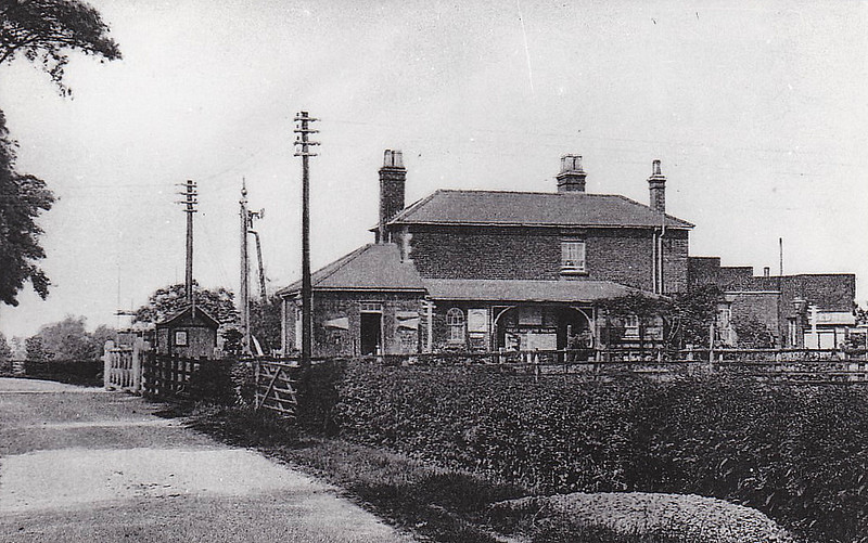 GEDNEY - Opened in July 1862 on the Sutton Bridge to Spalding line, first stop west of Long Sutton, there are Gedney's scattered about all over this part of the Fens. The station had two platforms to provide a passing place and a small goods yard, being almost identical with Fleet, the adjacent station.