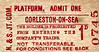 NORFOLK & SUFFOLK JOINT COMMITTEE TICKET - GORLESTON-ON-SEA - Platform Ticket, price 1d.