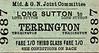 M&GN TICKET - LONG SUTTON - Third Class Single to Terrington - fare 1s 0d.