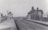TWENTY - Opened in 1866, Twenty was the first station east of Bourne towards Spalding, seen here looking west towards Bourne. There being almost no human habitation in the neighbourhood, the station was named after the nearby drainage ditch! Twenty closed along with the rest of the M&GN on February 28th, 1959, although Spalding - Bourne stayed open for freight until 1965. Now for the M&GN joke: how many stations are there between Bourne and Spalding? Answer: 22 (North Drove, Counter Drain and Twenty!). I didn't say it was good!