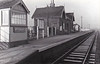ATTLEBRIDGE - Third station north of Norwich City - a fairly basic M&GN station, one platform, goods yard behind the station buildings - seen here in January 1959, just a month before closure.